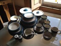 Wedgewood retro Blue Pacific crockery 52 pieces in excellent condition