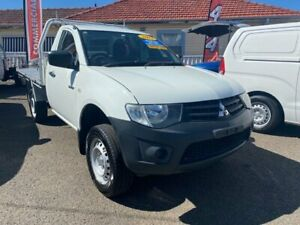 2013 Mitsubishi Triton MN MY13 GL White 5 Speed Manual Cab Chassis Waratah Newcastle Area Preview