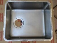 FRANKE STAINLESS STEEL SINGLE BOWL KITCHEN SINK, very good condition, almost as new, complete