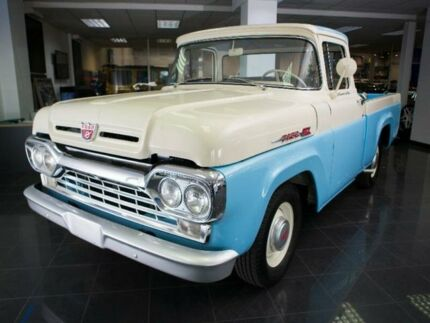 1960 Ford F100 White/Blue Manual Utility
