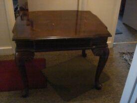 Small Decorative Vintage Look Wood Table