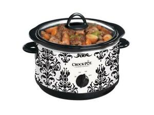 NEW Crock-Pot 4.5Qt. Round Manual Slow Cooker, Damask