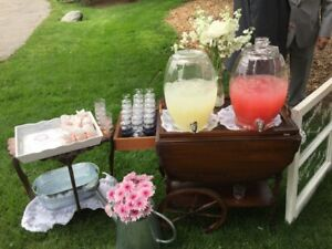 Glass Beverage Dispensers Wedding