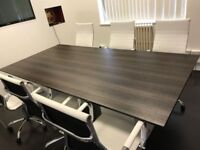 10 seats - Large Boardroom Table (not the actual table in picture, an example of a smaller version)
