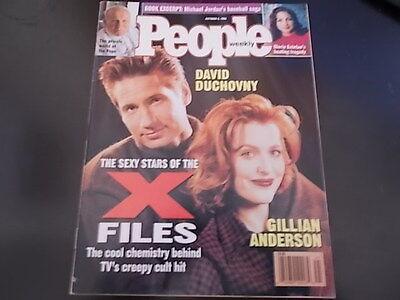 David Duchovny  Gillian Anderson   People Magazine 1995