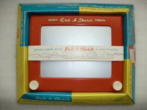 Vintage 1960 Etch A Sketch Magic Screen by Ohio Art Co-NOS!
