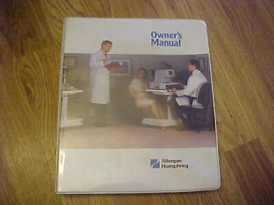 Allergan Humphrey Lens Analyzer 306 330 340 Owners Manual