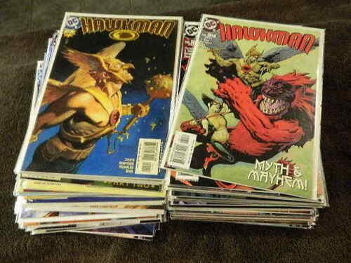 2002 DC Comics HAWKMAN #1-66 Complete Series Set - HAWKGIRL - VF/NM
