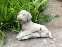 Concrete Dog Garden Ornament