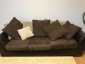 Sofa sectionnel brun