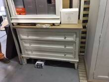 Set of Drawers, white, with timber top or bedroom setting Mosman Mosman Area Preview