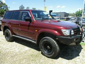 2003 Nissan Patrol Y61 STL Maroon 4 Speed Automatic Wagon Bray Park Pine Rivers Area Preview