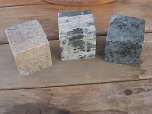 3 Cubes Cut From Rock