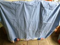 Children's blue curtains with tie backs