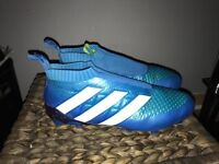 Adidas ace 16+ pure control blue football boots UK size 9 (not Nike magista mercurial hypervenom)