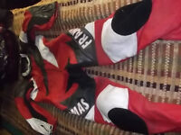 """Frank Thomas Racing Leathers UK Size 46 Chest 5'9"""" to 6' Height. Great backup leathers for trackdays"""