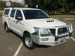 2014 Toyota Hilux KUN16R MY14 SR White 5 Speed Manual Dual Cab Pick-up Homebush West Strathfield Area Preview