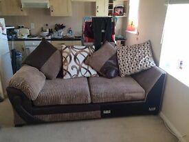 Less than a year DFS RHF corner illusion sofa in VGC