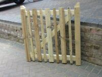 GARDEN PREASURE TREATED TANISED PICKET GATE 3X3 MADE TO MEASURE