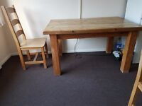 SOLID RUSTIC DINING TABLE