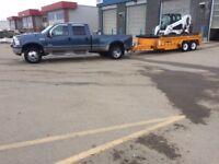 S&C Ventures Bobcat dump trailer services.