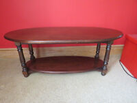 Special Solid Mahogany Coffee table made by Ian Brent Thomson Cabinet Maker of Ilkley