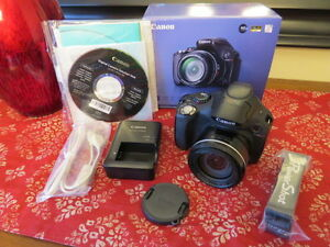 Canon SX40HS digital Camera with Optex case and HDMI Cable