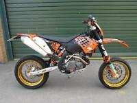 KTM 530 EXCF R 2008 SUPERMOTO ENDURO ROAD REGISTERED ELECTRIC START MX BIKE