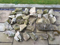 Limestone suitable for a rockery - 37 pieces for £30 or £1 each for less than the full amount
