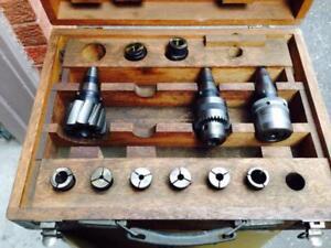 Nikken 30 taper tool set, collet chuck collets etc