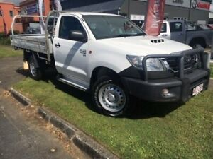 2014 Toyota Hilux KUN26R MY14 SR White 5 Speed Manual Cab Chassis Bungalow Cairns City Preview