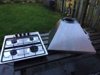 Electrolux gas Hob and cooker hood