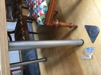 Table legs, brushed silver colour - 8