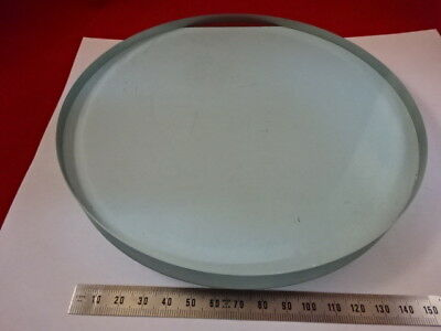 FOR PARTS LARGE THICK OPTICAL GLASS PLATE OPTICS [some scratches] AS IS and90-B-09