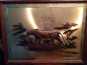 Framed copper african lioness wall art Warwick Joondalup Area Preview