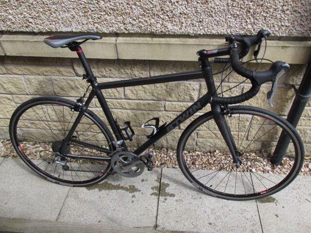 Btwin triban 7 t7 road bike black size 60 mens frame for Triban 300