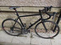 Btwin Triban 7 T7 Road Bike, black, size 60 mens frame.