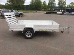 "NEW 2018 ALUMA 68"" x 10' HD ALUMINUM UTILITY TRAILER"