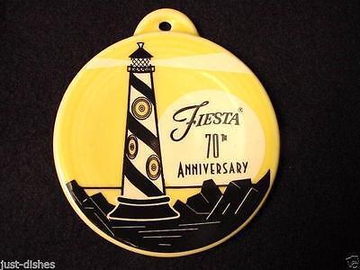 2006 Fiesta® SUNFLOWER Post 86 - 70th ANNIVERSARY LIGHTHOUSE Ornament - 1st Qual