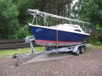 Used, 20' Four Berth Single Mast Sailing Yacht with Trailer for sale  Coleraine, County Londonderry