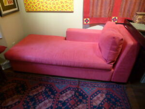 Red Chaise Lounge sofa bed