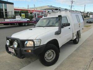 2012 Nissan Patrol GU 6 Series II DX White 5 Speed Manual Cab Chassis Geebung Brisbane North East Preview