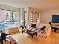 BRIGHT LARGE 1 BED CONDO - 3 1/2 DOWNTOWN MONTREAL FOR SALE