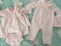 2 new pink Mintini baby outfits
