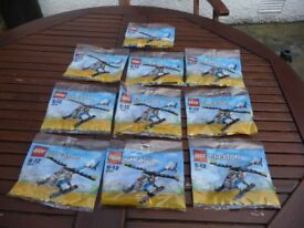BRAND NEW IN SEALED BAGS LEGO CREATOR SET 30472 HELICOPTER X 10