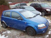 2004 Chevrolet Aveo RUNS AND DRIVES AS-IS