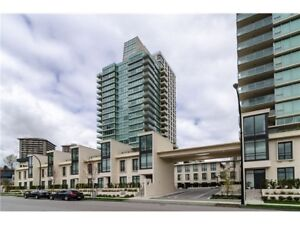 """Burnaby Brentwood """"Affinity"""" 2Br+2bath High-rise unit for Rent!"""