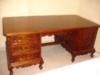 Desk, Solid Mahogany