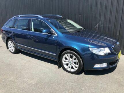 2012 Skoda Superb 3T MY12 125 TDI Elegance Blue 6 Speed Direct Shift Wagon