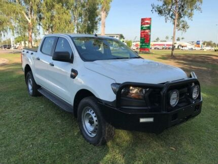 2015 Ford Ranger PX MkII XL Double Cab White 6 Speed Sports Automatic Cab Chassis Hidden Valley Darwin City Preview